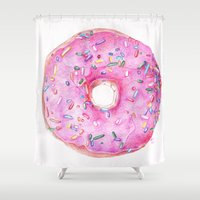 donut Shower Curtains featuring DONUT!!!! by annelise johnson
