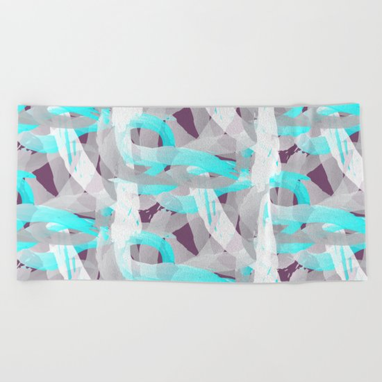 Out of the blue pattern Beach Towel