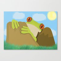 frog Canvas Prints featuring Frog by Nir P