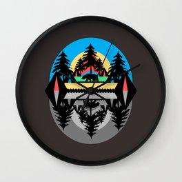 Bear Camp Wall Clock