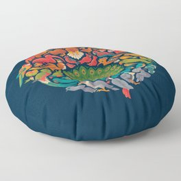 Aerial Rainbow Floor Pillow