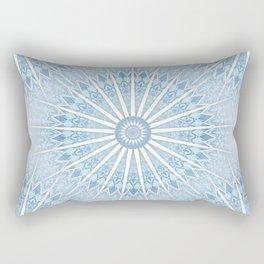 Pale Blue Mandala Rectangular Pillow