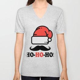 Ho Ho Ho Funny Christmas Santa Mustache Unisex V-Neck