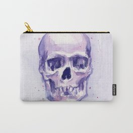Skull Watercolor Skulls Carry-All Pouch