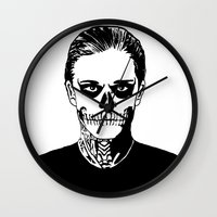 kris tate Wall Clocks featuring Tate  by Rachcox