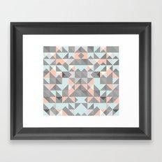 Triangular Pattern Framed Art Print