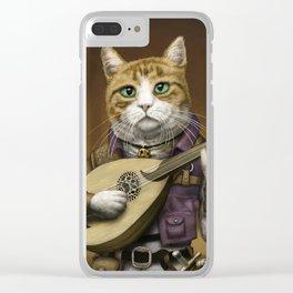 Bard Cat Clear iPhone Case
