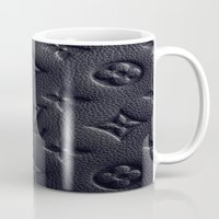 lv Mugs featuring Black LV by I Love Decor