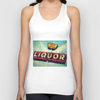 novelty Tank Tops featuring A Great Day Indeed: Check Cashing & Liquor! by Honey Malek