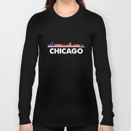 Chicago City American Flag Shirt, 4th of July shirts Long Sleeve T-shirt