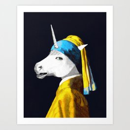 Cool Animal Art - Funny Unicorn Art Print
