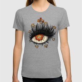 Weird Eye Of Fractured Lava   Digital Art T-shirt