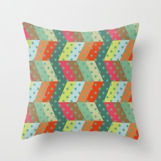 retro pattern and observatory 2 Throw Pillow