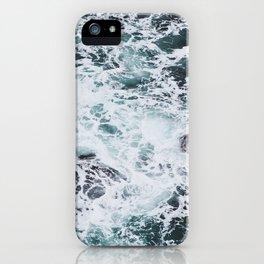OCEAN - ROCKS - FOAM - SEA - PHOTOGRAPHY - NATURE iPhone Case