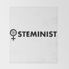 Steminist with symbol Throw Blanket