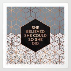 She Believed She Could 4 Art Print