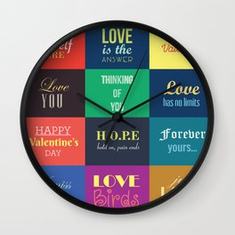 love messages Wall Clock