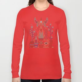 Santa Fe Garden – Turquoise & Brown Long Sleeve T-shirt