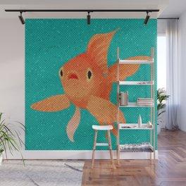 Fish Art Mosaic Orange Goldfish Wall Mural