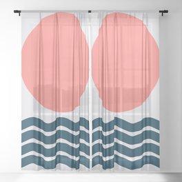 Geometric Form No.9 Sheer Curtain
