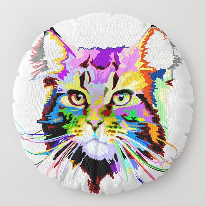 Maine coon cat Floor Pillow