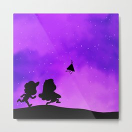 Gravity Falls - Purple Metal Print