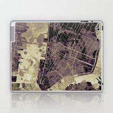 New York city map ink Laptop & iPad Skin