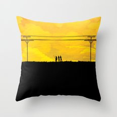 To the prison Throw Pillow