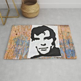 """HERE'S TO THE CRAZY ONES""/Jack Kerouac Rug"