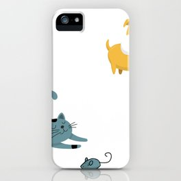 Dogs Have Masters Cats Have Staff iPhone Case