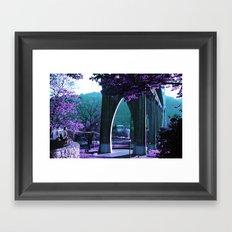 Cathedral Bridge in Purple Framed Art Print