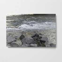 Rocks + river Metal Print