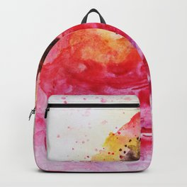 Big Pink Rose Blossom watercolor by CheyAnne Sexton Backpack