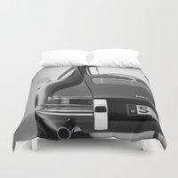 porsche Duvet Covers featuring Porsche by CABINWONDERLAND
