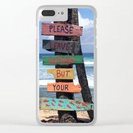 Beach Signs Clear iPhone Case