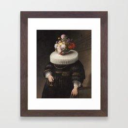 Flower Head Dutch Portrait Framed Art Print