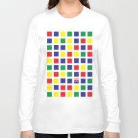 waldo Long Sleeve T-shirts featuring Square's Waldo by Jonah Makes Artstuff