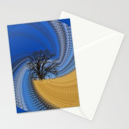 Prairie oak swirl Stationery Cards