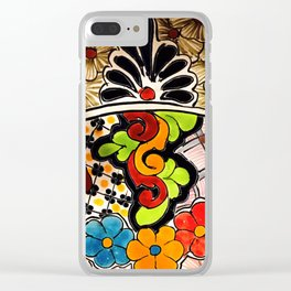 Beautiful Red and Green Talavera Clear iPhone Case
