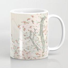Fuji and Cherry Blossom, Katsushika Hokusai, 1800 Coffee Mug