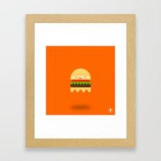 Ham-Boo-ger Framed Art Print