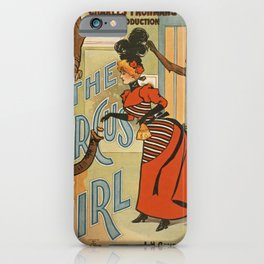 The Circus Girl vintage poster iPhone Case