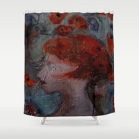 imagerybydianna Shower Curtains featuring somnia by Imagery by dianna