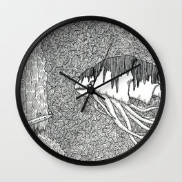 Kraken Shrimp Wall Clock