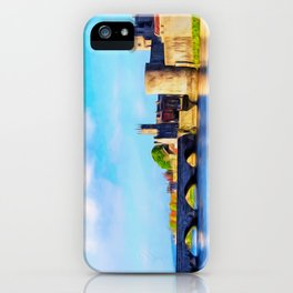 King Johns Castle and Thomond Bridge iPhone Case