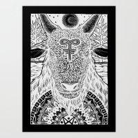baphomet Art Prints featuring Baphomet by Christopher Worker
