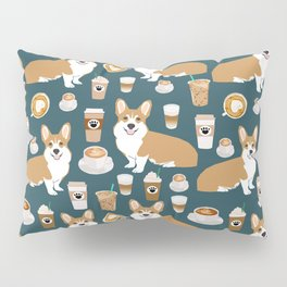 Corgi coffee welsh corgis dog breed pet lovers blue corgi crew pet lovers Pillow Sham