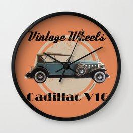 Vintage Wheels: 1931 Cadillac V16 Wall Clock