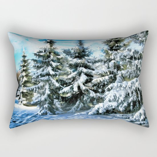Majestic Winter In New England Rectangular Pillow
