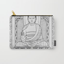 Buddha Black & White Carry-All Pouch